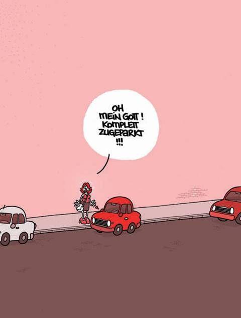 Frauen Parken Lustig