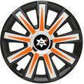 Design Radkappe Schwarz Orange
