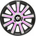 Design Radkappe Schwarz Pink